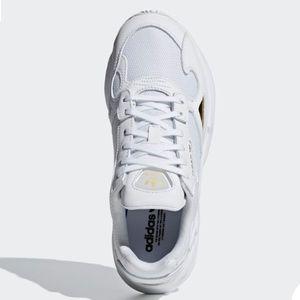 white adidas falcon shoes